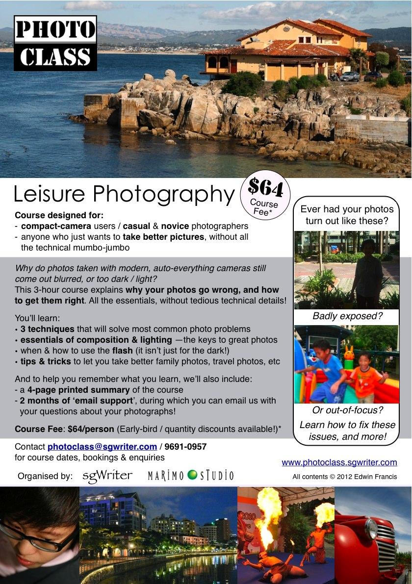 Travel photography workshops singapore